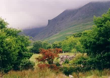 Der Fuß des Mount Carrauntoohill