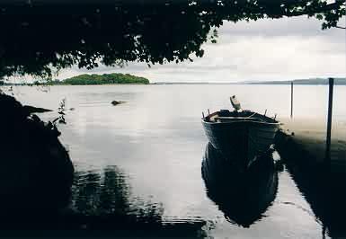 Blick auf den Lough Derg von Holy Island aus