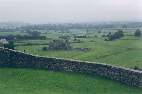 Blick vom Rock auf die Hore Abbey
