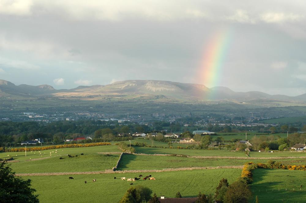 Blick Richtung Sligo aus Richtung des Knocknarea
