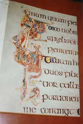 Ausschnitt aus dem Book Of Kells